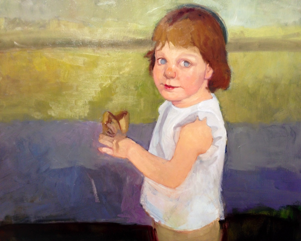 Isabella, oil on board, portrait commission in progress. 1/1/2013