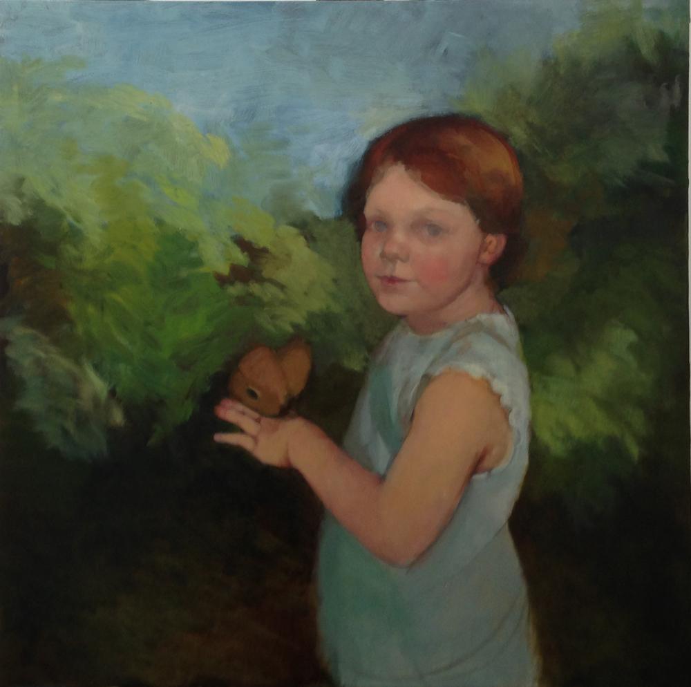 Isabella, oil on board, portrait commission in progress. 4/30/2013