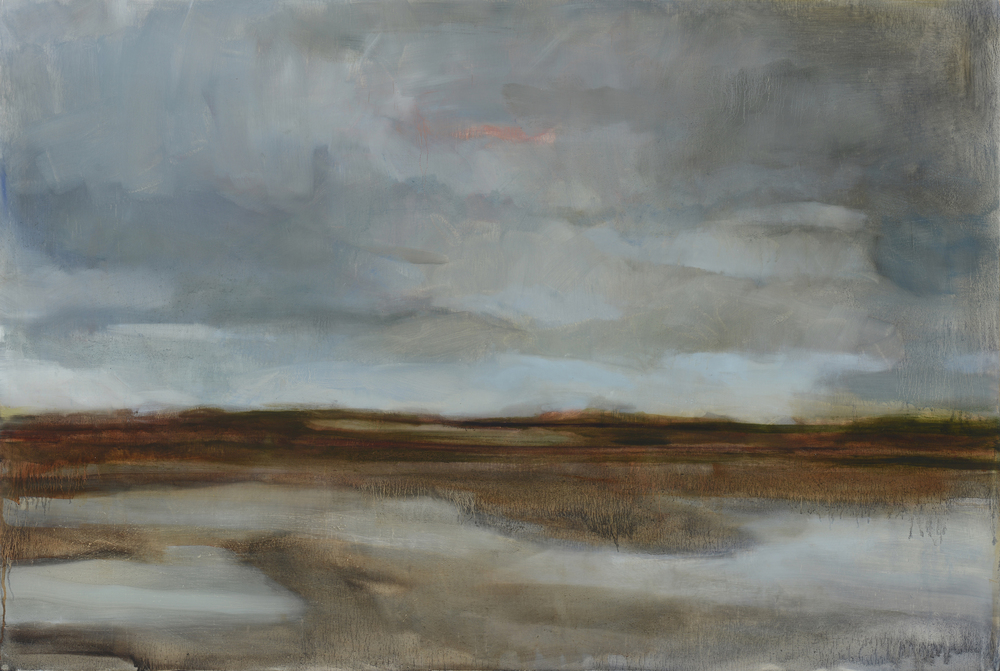 Hoke, South Bay, 2014, oil on panel 36 x 48""