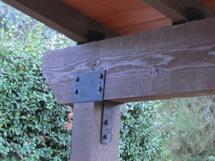 exposed hardware on new pergola