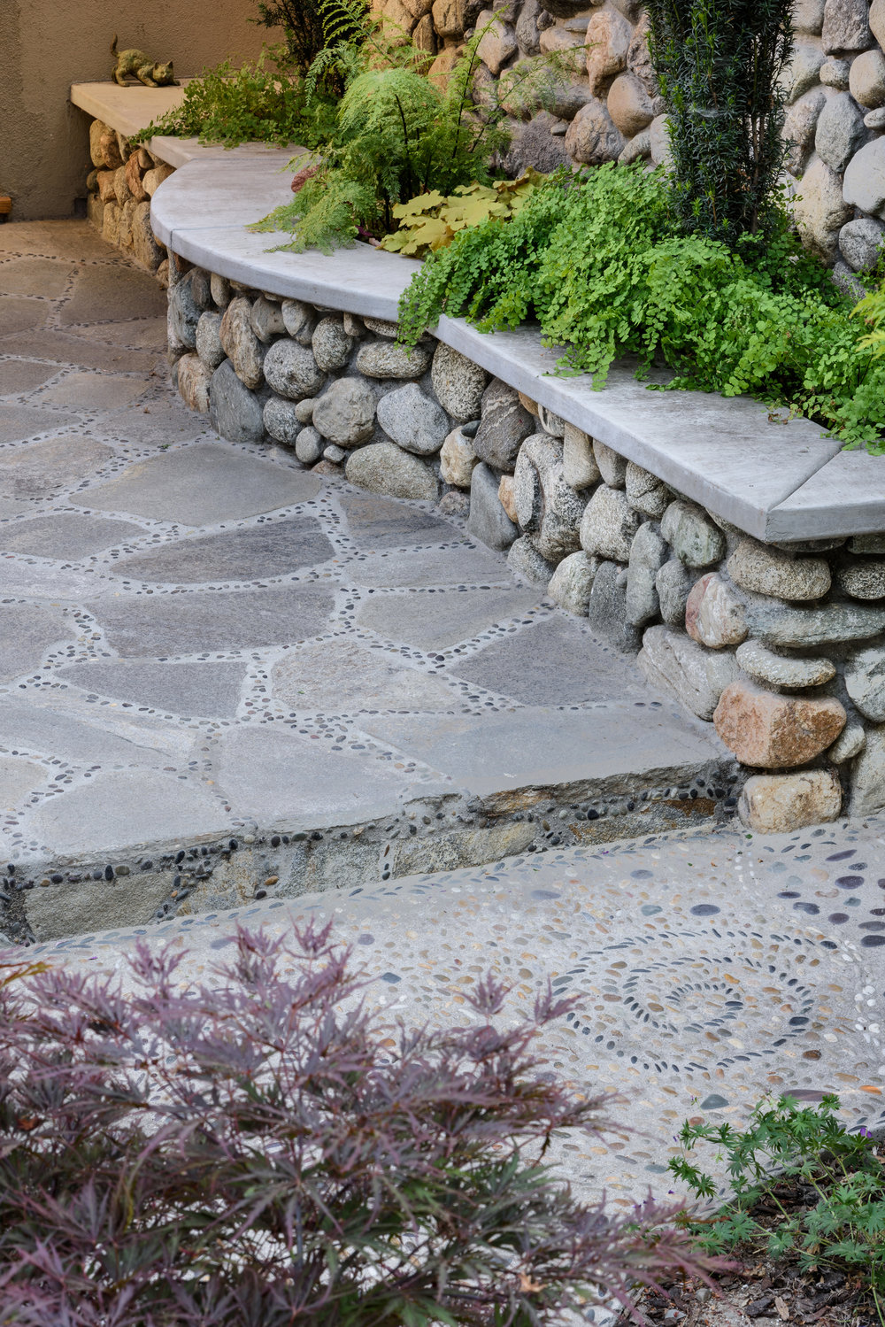 Claremont-Woodland-Garden-Path-Pebble-Art-Stone-Planter-Seat-Wall.jpg