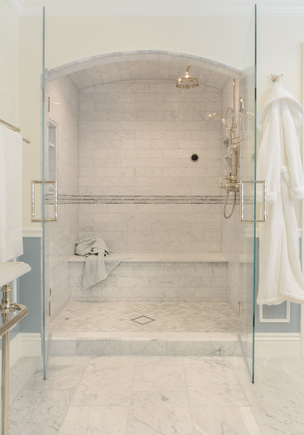 Beautiful marble shower design