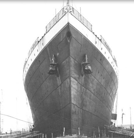 Titanic in 1911 after her sister ship Olympic had launched