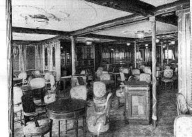 The first class dining room offered a' la carte dining.