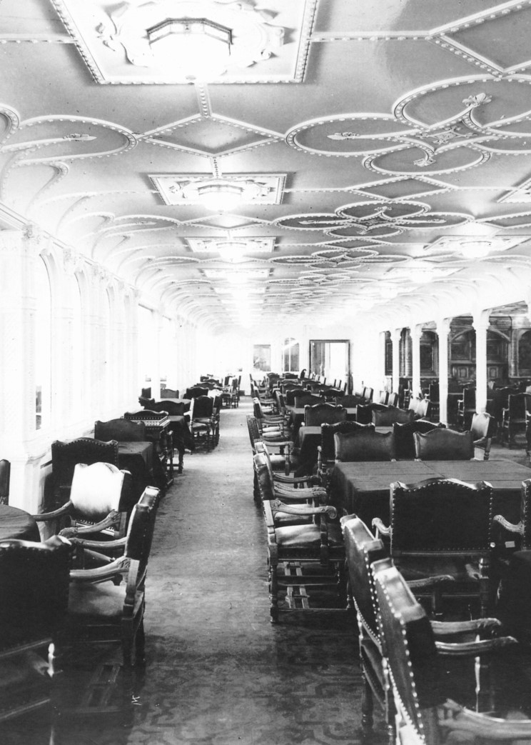 The First class Lounge: This Edwardian inspired lounge is were first class passengers would gather to play cards and discuss the burning issues of the day.