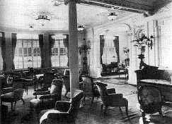 Titanic's reading & writing room was purpose built for first class women.