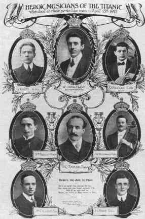 The eight members of Titanic's Band