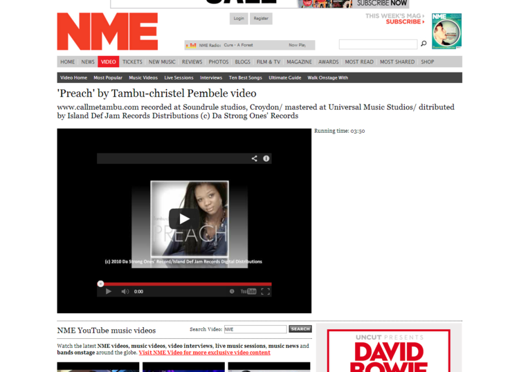 Preach  by Tambu christel Pembele   Video Youtube   NMETV Latest Music Videos and Clips     NME.COM.png