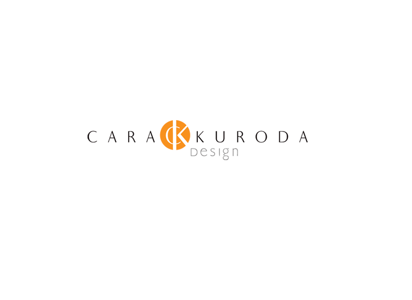 Logo identity for Cara Kuroda Design, a small business interior design and architect firm in San Mateo, California.