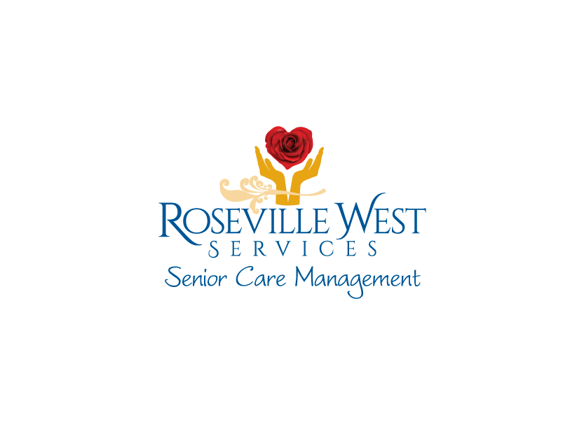 Logo design for Roseville West Services, a senior care management service company in Roseville, California.