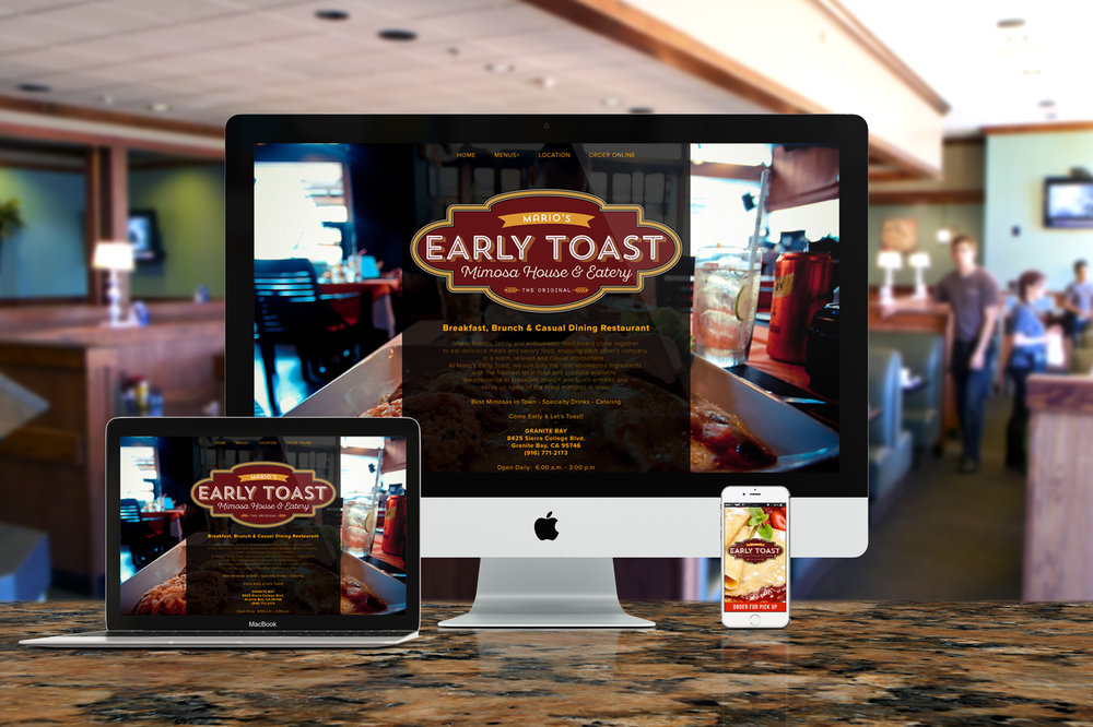 Website Design, Mobile App Design for Online Ordering