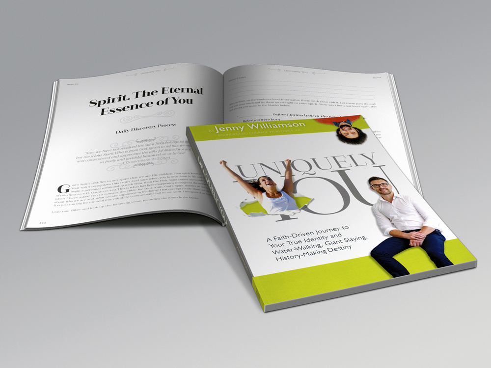 Courage Worldwide, Inc. -  Uniquely You  workbook design and layout.
