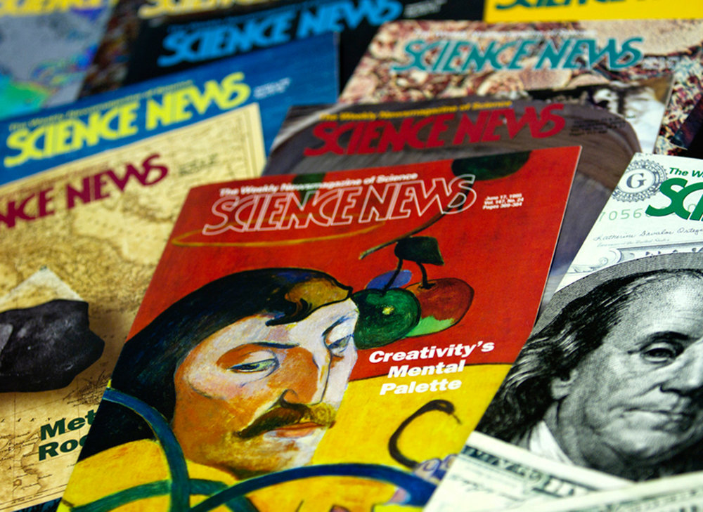 A published magazine since 1922,  Science News , a weekly magazine (at the time) published concise and timely articles for nearly 130,000 subscribers and over a million readers worldwide. We managed all aspects of design and production of this magazine, including providing our own films and match prints to the printer.