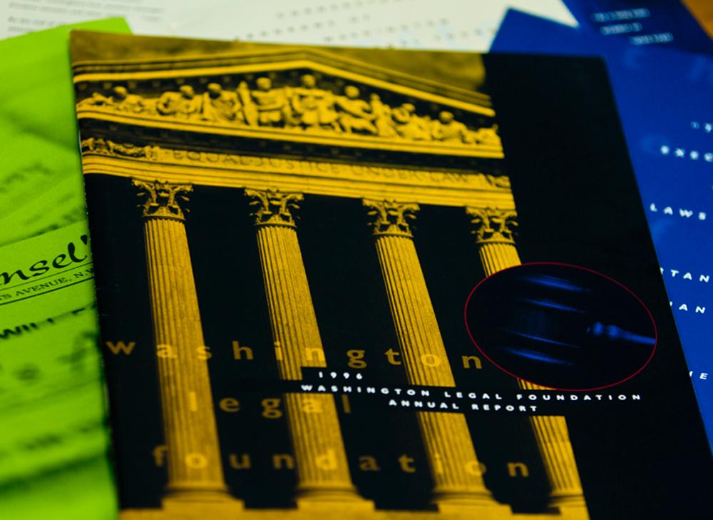 Washington Legal Foundation - Annual Report design