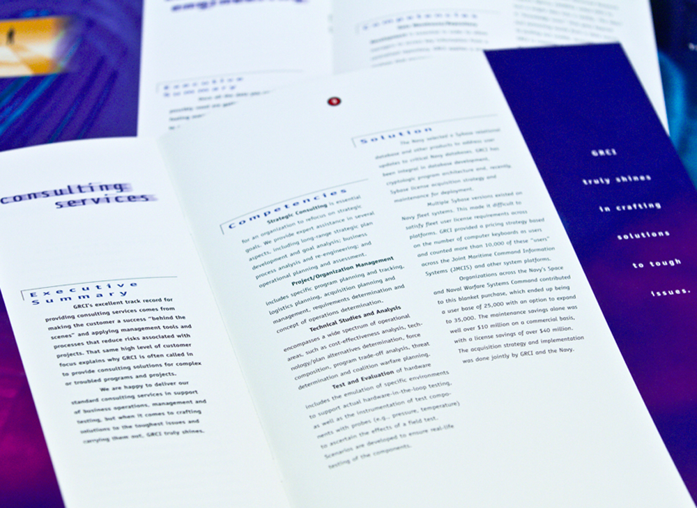 GRC International, Inc. -inside spread design.