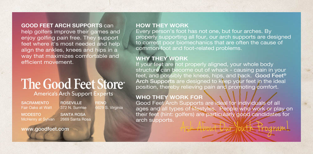 The Good Feet Store - Promotion Postcard (back)