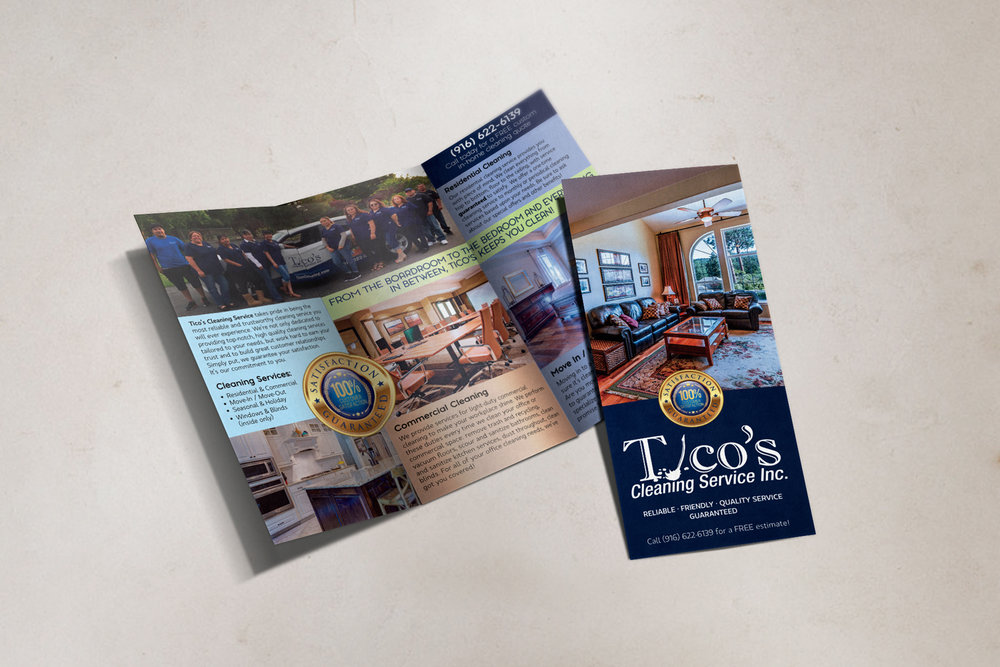 Tico's Cleaning Service, Inc. - simple trifold brochure