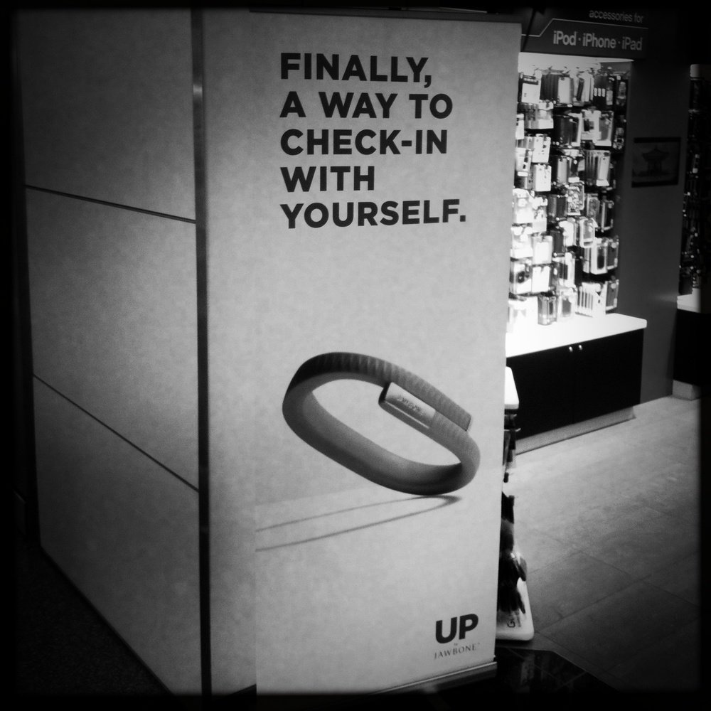 """Finally, a way to check-in with yourself."" -- And it doesn't even involve making contact to yourself..."