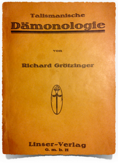 Original cover page of the German edition 1922