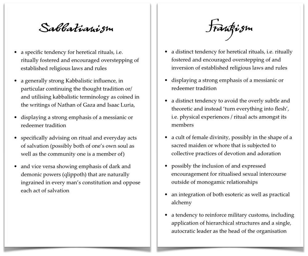 Overview of characteristic features of Sabbatianism and Frankism - click to enlarge