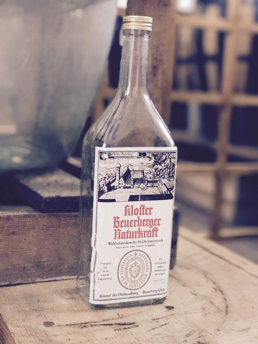 an empty bottle of the dandelion wine