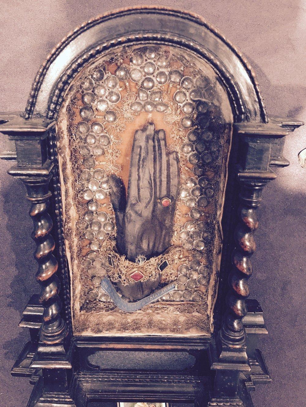 a saints' hand