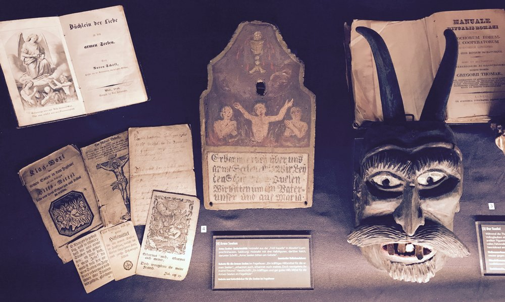 various death related artefacts