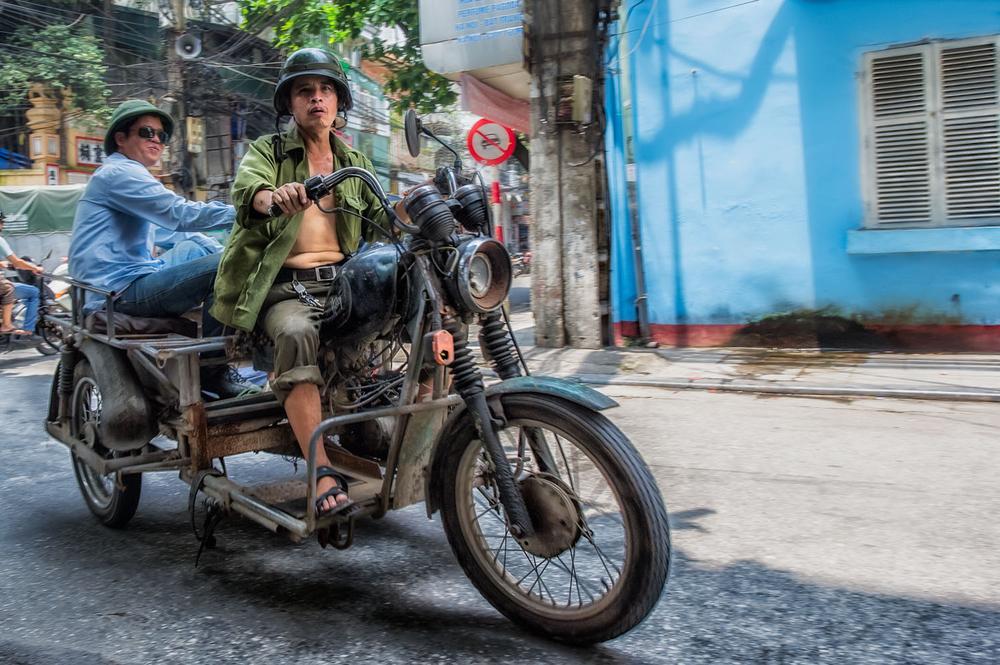 Easy rider in the Old Quarter in Hanoi, Vietnam