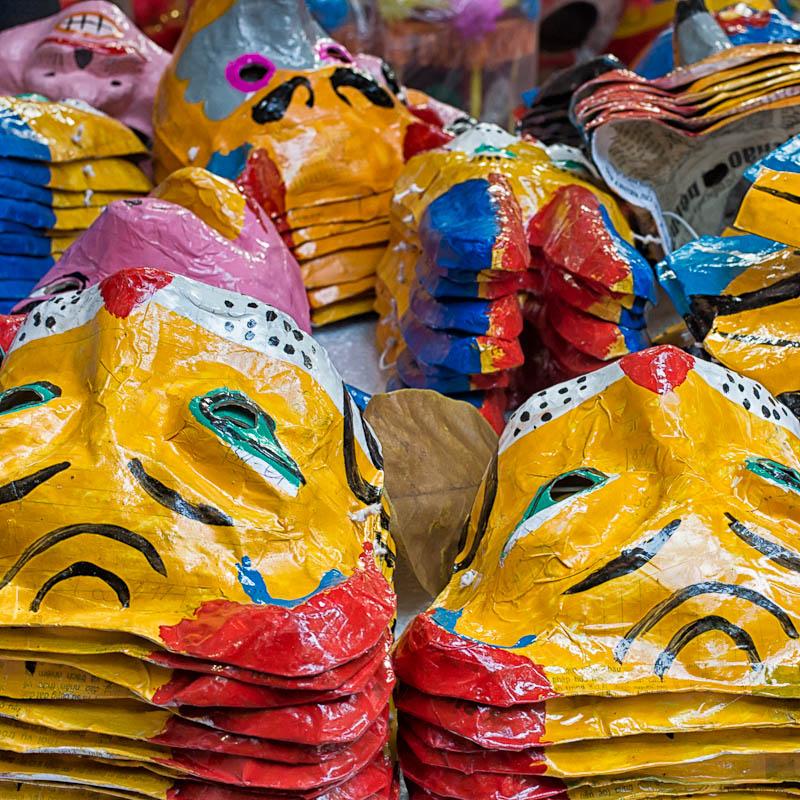 Masks at the mid autumn festival