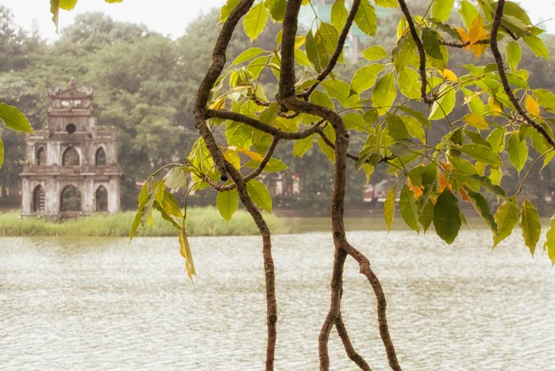 Hoan Kiem lake in the golden hour