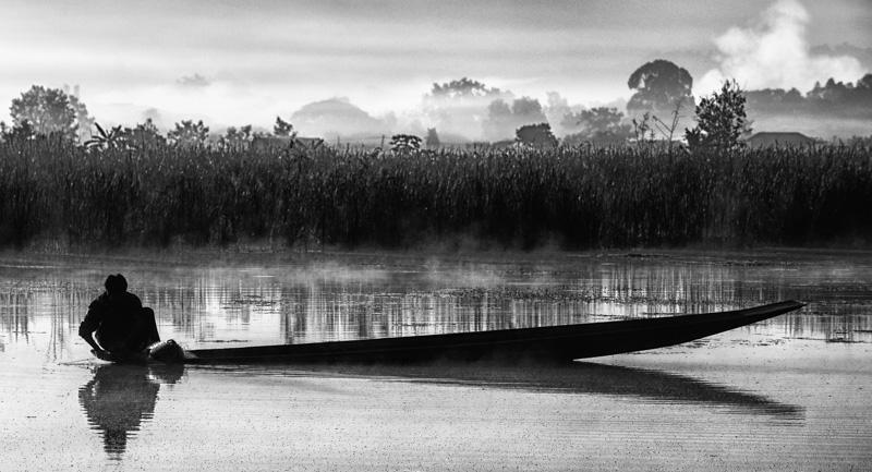 Early morning near Inle Lake, Myanmar