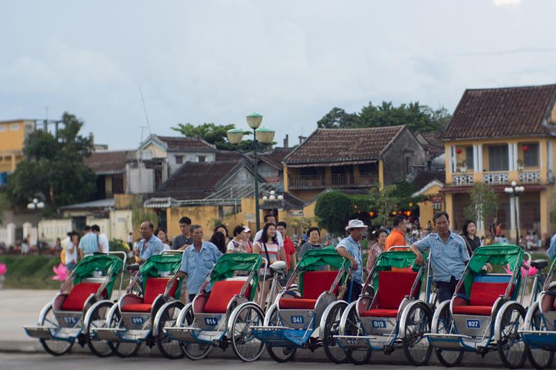 Rikschas in Hoi An