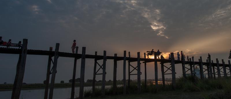 U Bein Bridge at sun set