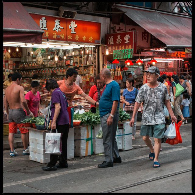 young and old, foreigners and locals, you can find them at the wet markets