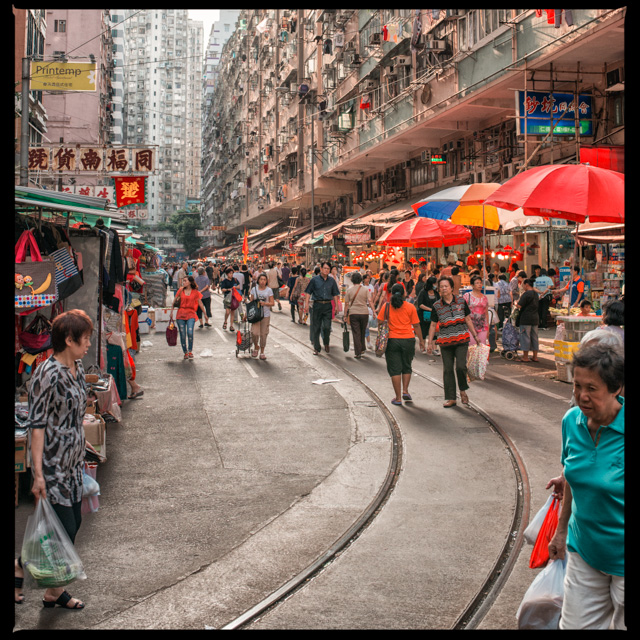 wet market in North Point, where it is easy to catch the tram
