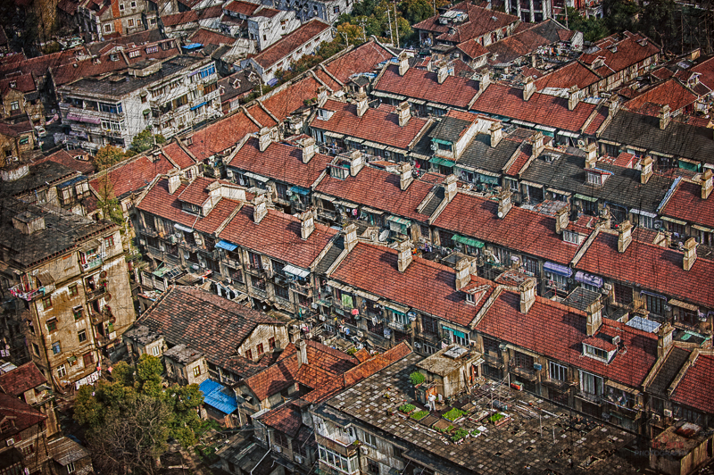 dwellings seen from above