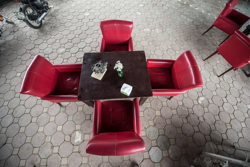 Sitting possibility at Kub Cafe