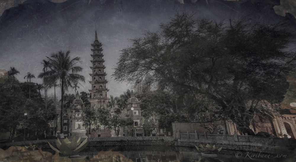 Daguerreotype image in Hanoi