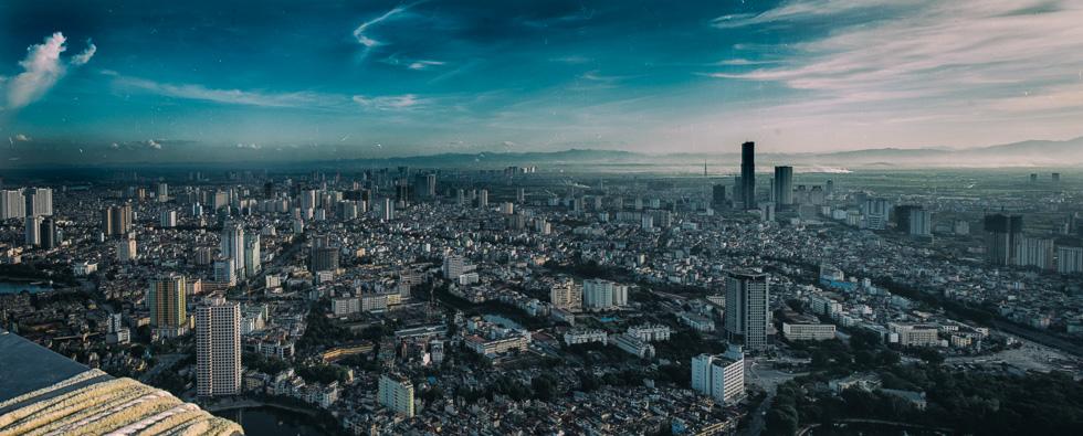 View over southeastern Hanoi