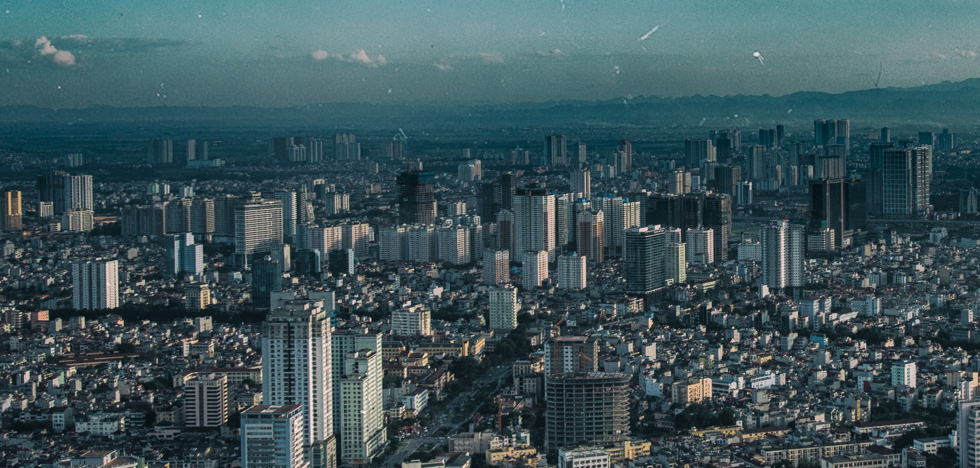 High rises are clustering, not as much as in other cities
