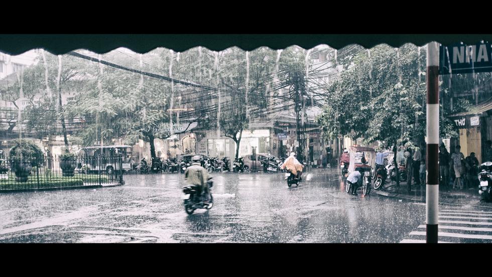Heavy rain in Hanoi