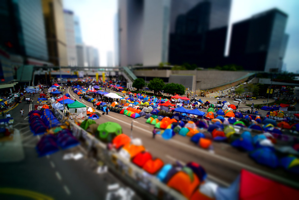 Occupied Admiralty site in Hong Kong