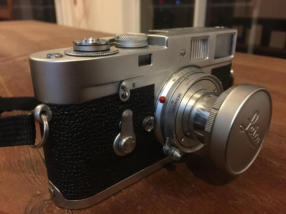 Leica M2 with collapsable 50mm f 2.8 lens