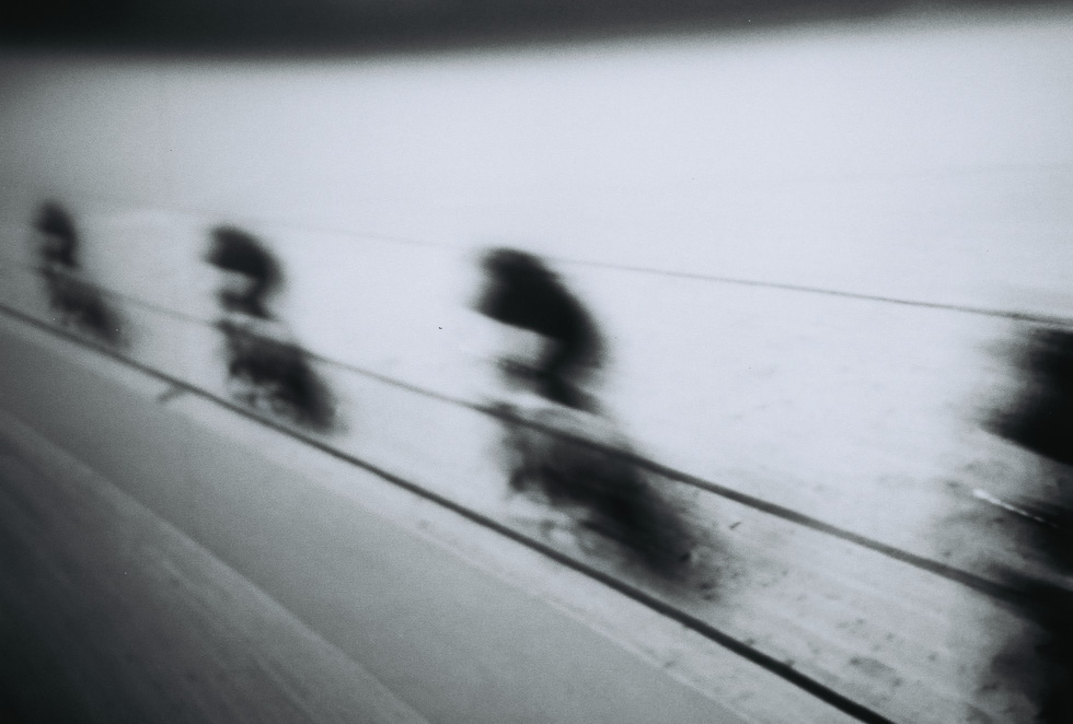 Long exposure test of some bicycle racers