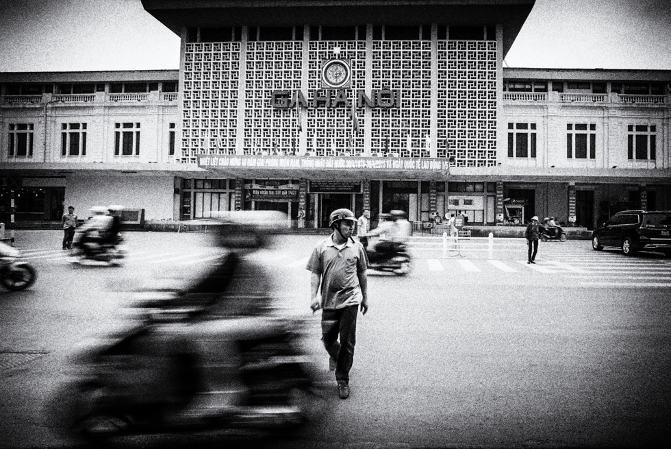 Meeting point in front of the main railway station in Hanoi