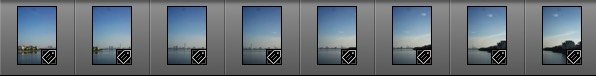 Eight images in Lightroom 6