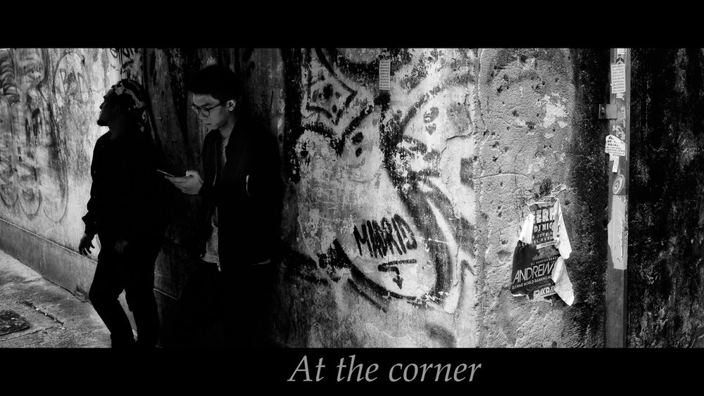 A corner as seen in b/w