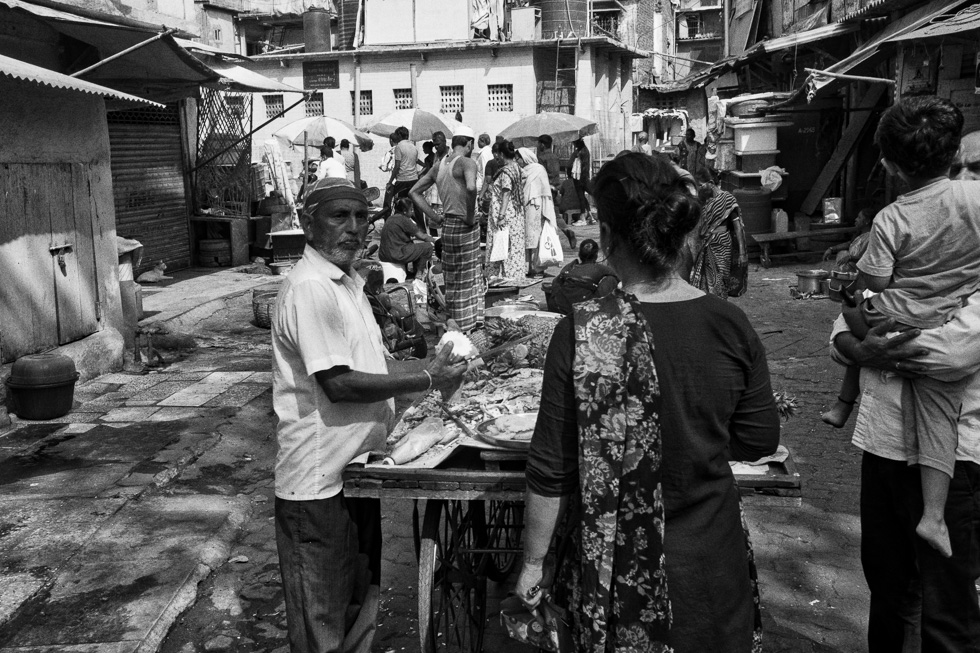 Fish and vegetable Market in Colaba, South Mumbai