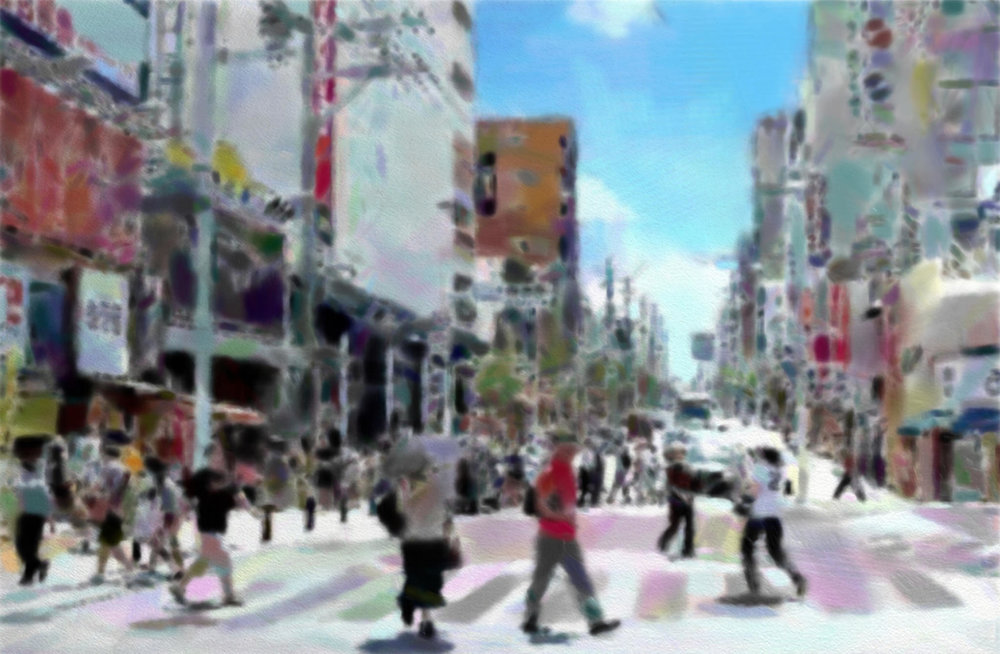 Kokusai dori the main shopping avebue in Naha