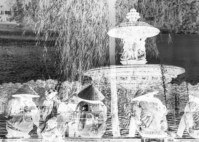 One of the original double exposures taken in Hanoi and Paris